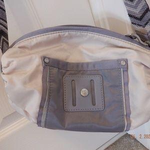 Lululemon small cross-body bag beige gray chevron